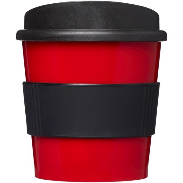 Hrnek s rukojetí Americano® primo 250 ml - Červená s efektem námrazy / Černá