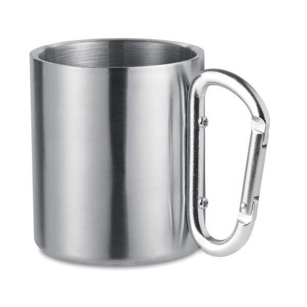 Taza con asa mosquetón Trumbo - plata mate