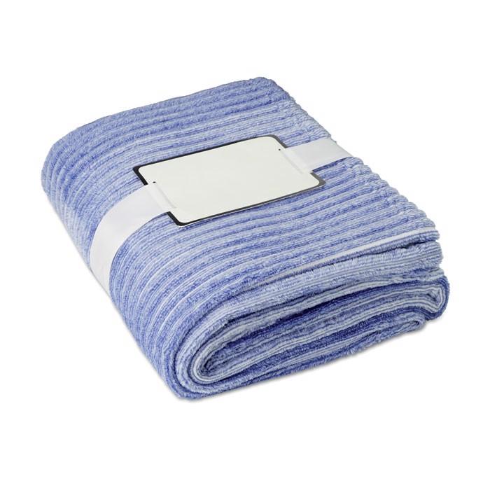 Yarn dyed flannel blanket Arosa - Blue
