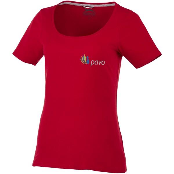 Dámské triko Bosey s hlubším kulatým výstřihem - Tmavě červená / M