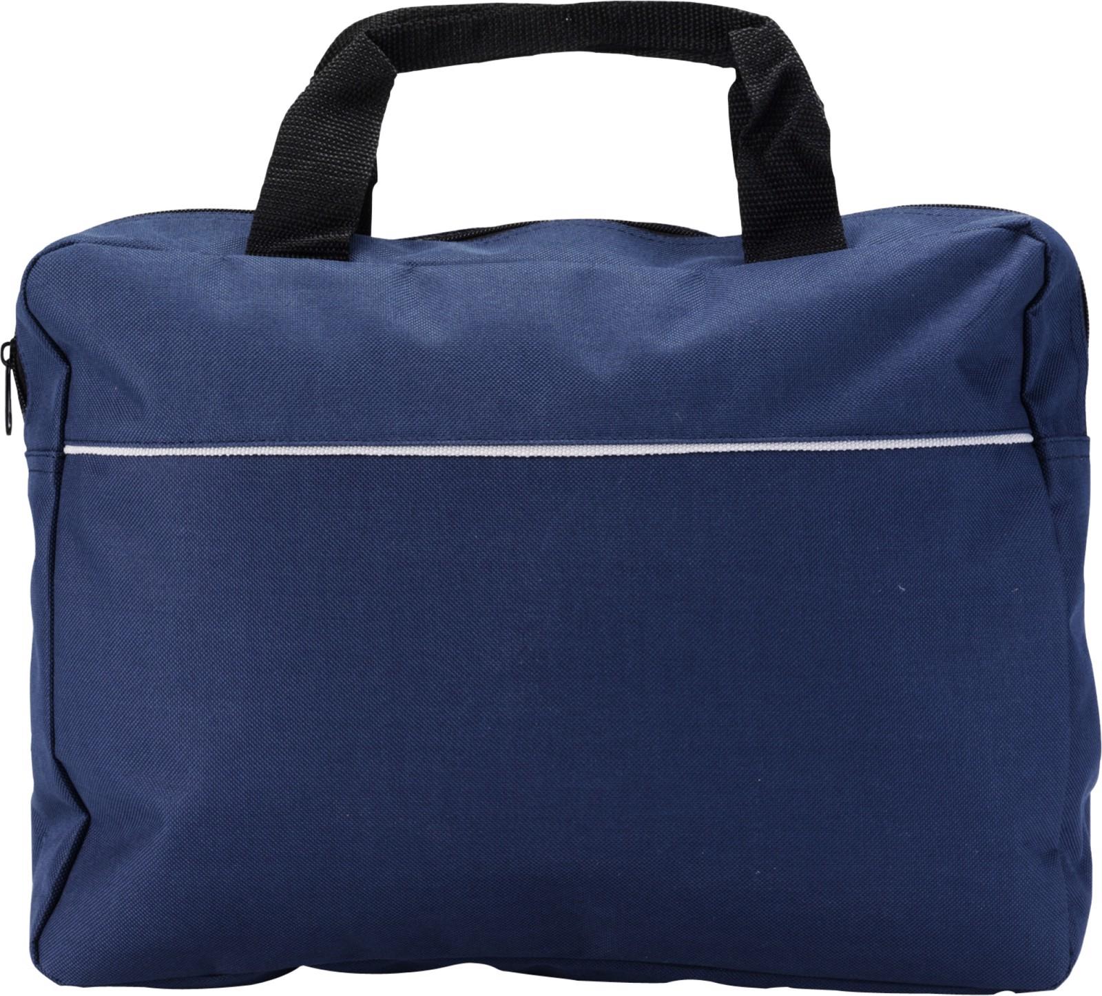 Polyester (600D) document bag - Blue
