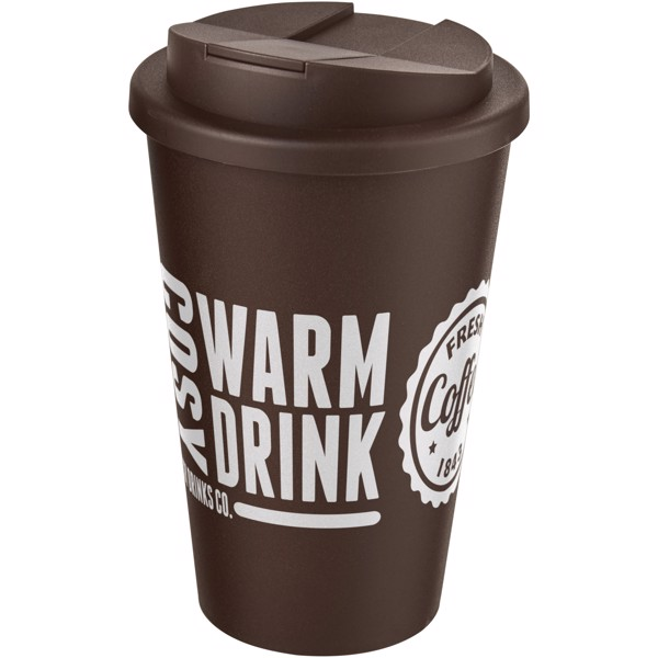 Americano® 350 ml tumbler with spill-proof lid - Brown