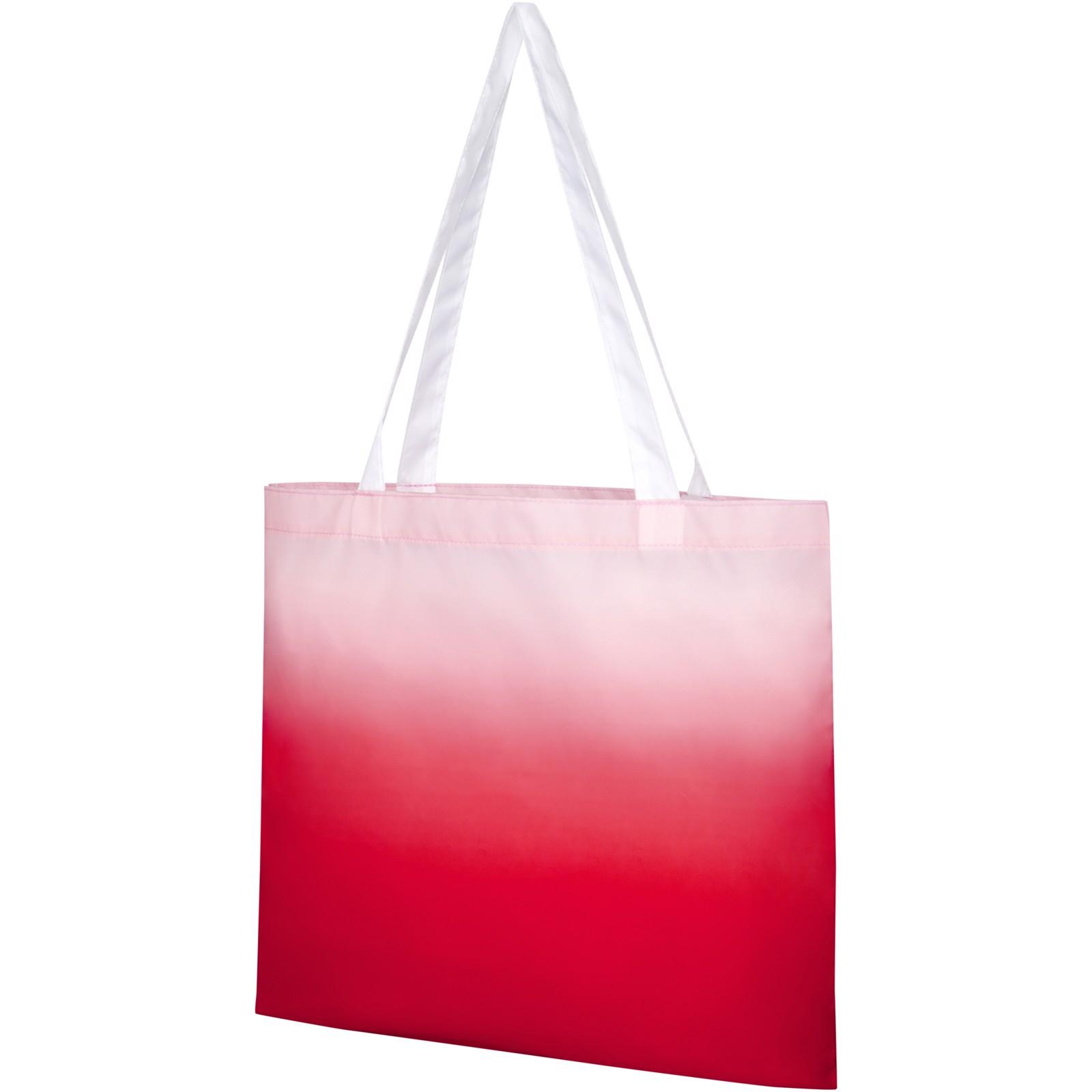 Rio nákupní taška s barevným přechodem - Červená s efektem námrazy