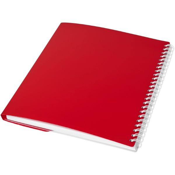 Poznámkový blok Curve A6 - Červená s efektem námrazy / Bílá