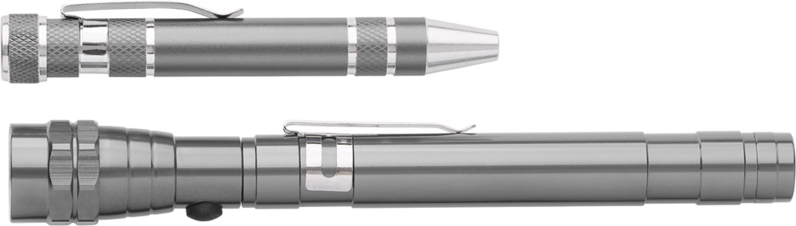 Aluminium 2-in-1 torch - Grey