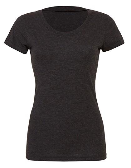 Triblend Crew Neck T-Shirt Woman - Charcoal-Black Triblend  / L