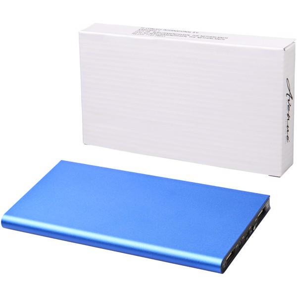 Hliníková powerbanka Plate 8000 mAh - Světle modrá