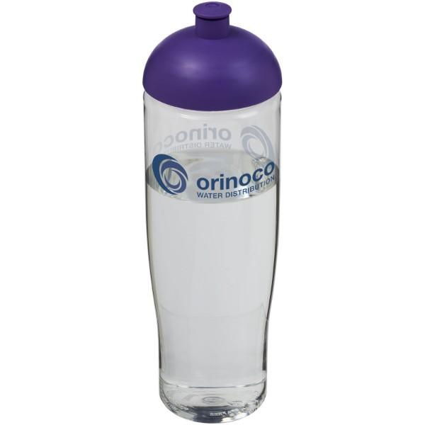 Sportovní láhev s kupolovitým víčkem H2O Tempo® 700 ml - Průhledná / Purpurová