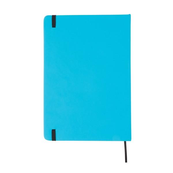 A5-ös keményfedelű PU jegyzetfüzet - Kék