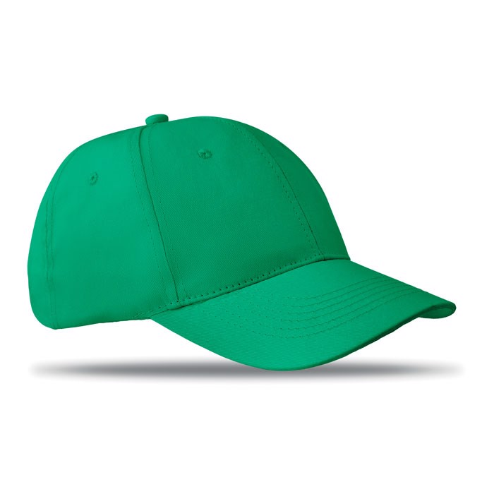 6 panels baseball cap Basie - Green