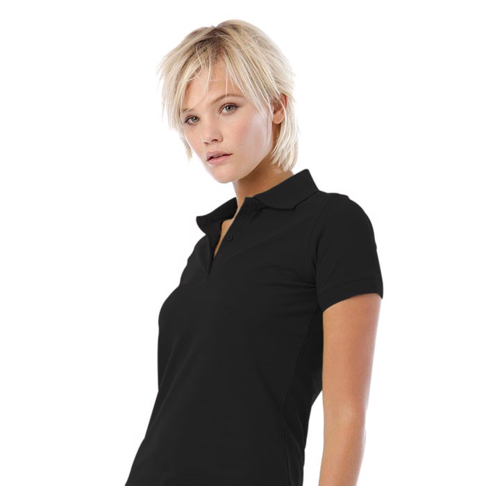Damen Polo-Shirt 180 g/m2 Safran Pure Women Polo Pw455 - Black/Black Opal / L