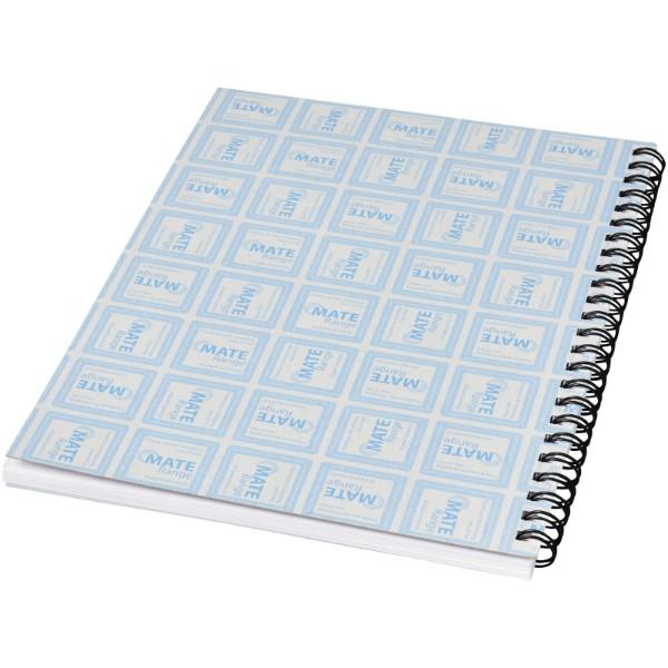 PP obal poznámkového bloku Desk-Mate® wire-o A5 - Bílá / Černá / 50 pages