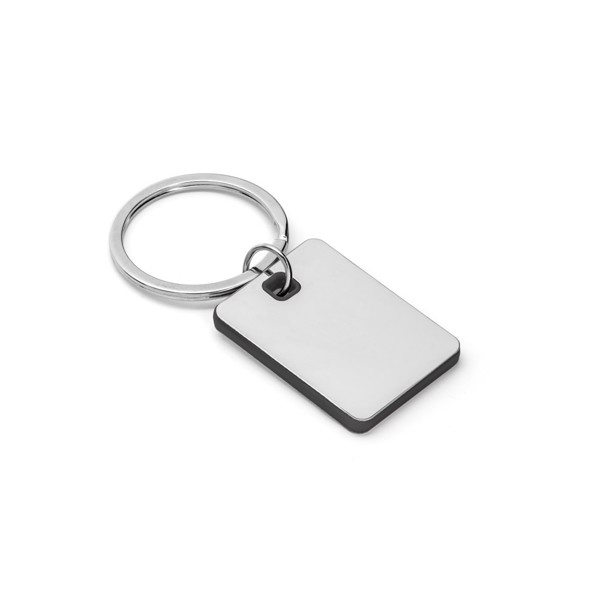 BECKET. Metal and ABS keyring - Black