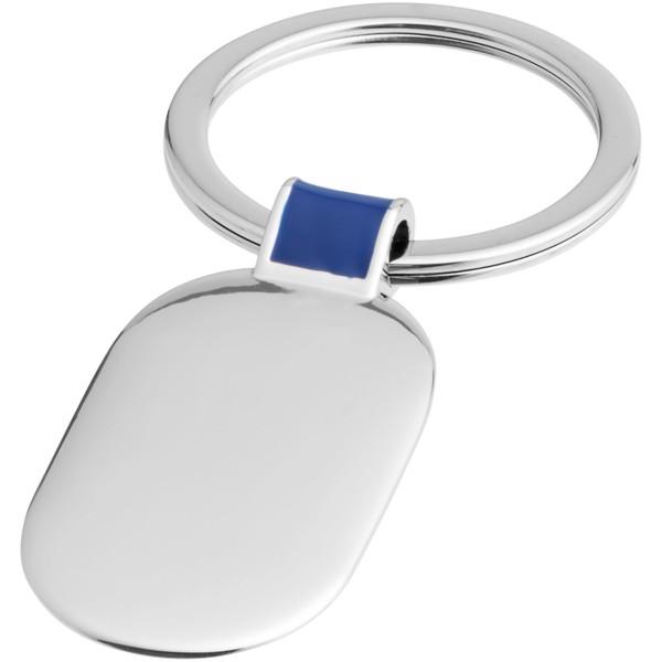 Barto oval keychain - Royal blue / Silver