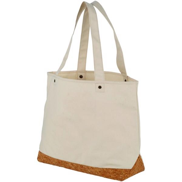 Napa 406 g/m² cotton and cork tote bag - Natural