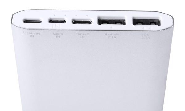 Polnilna baterija Backers - srebrna