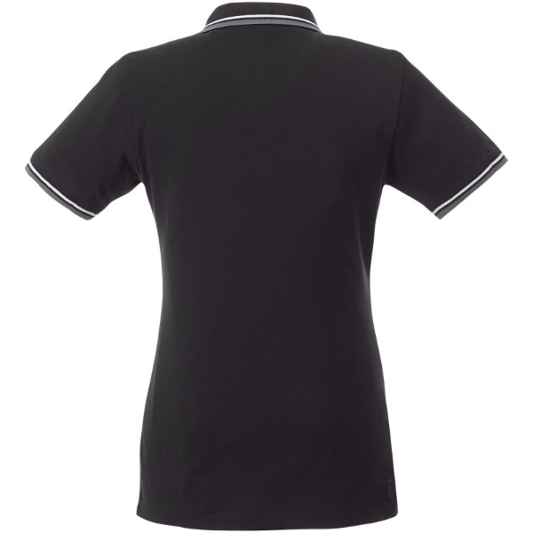 Fairfield short sleeve women's polo with tipping - Solid black / Grey melange / White / XXL