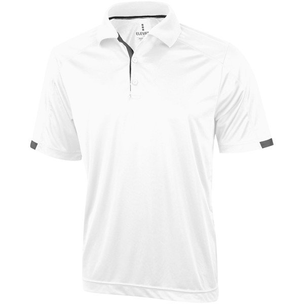 Kiso short sleeve men's cool fit polo - White / XXL