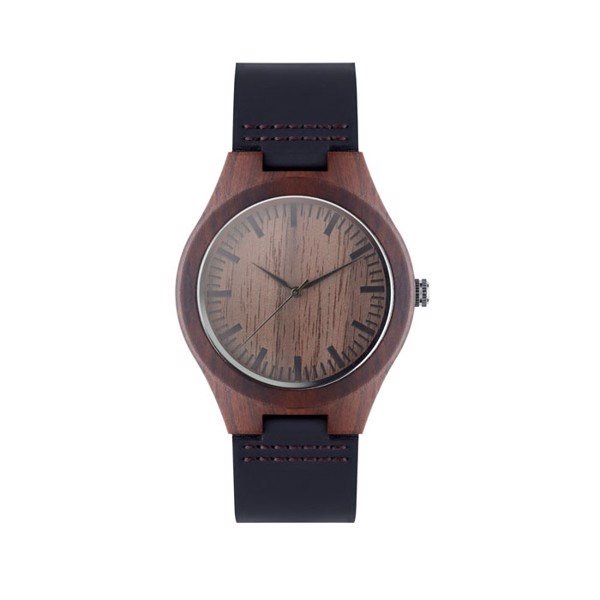 Leather watch Sion - Brown