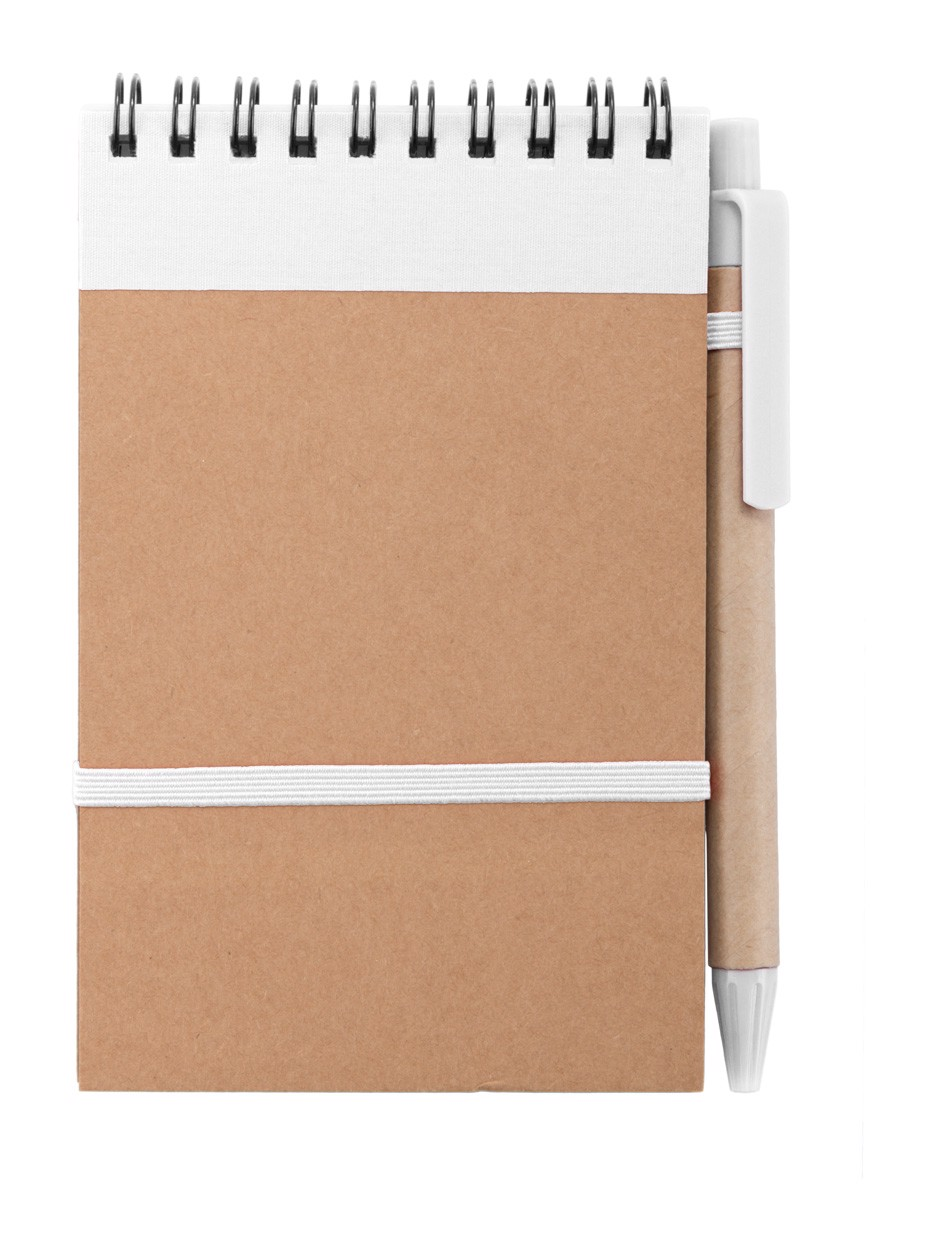 Notebook Ecocard - White / Natural