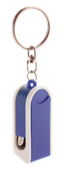 Breloc Cu Suport Telefon Mobil Satari - Alb / Albastru