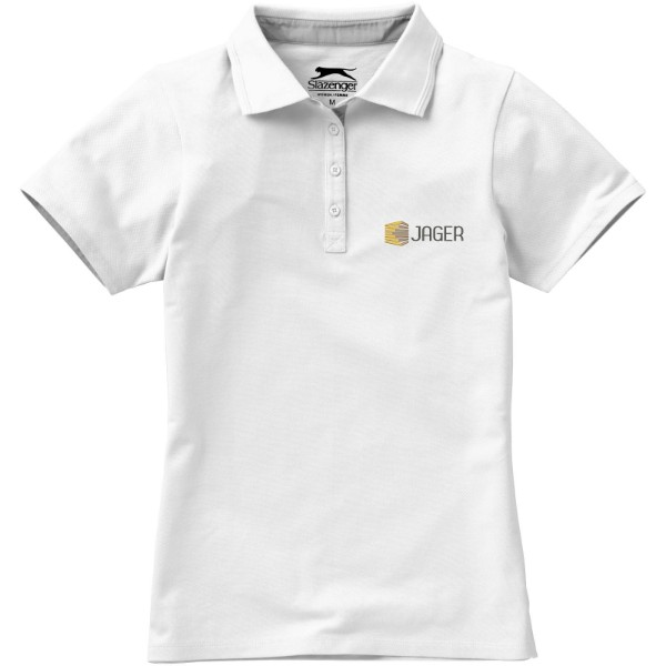 Hacker short sleeve ladies polo - White / Grey / S