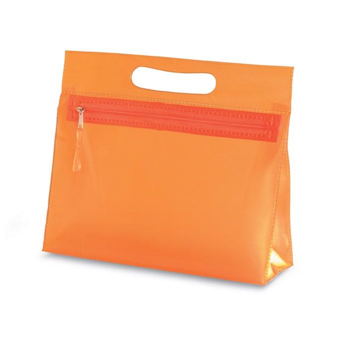 Transparent cosmetic pouch Moonlight - Orange
