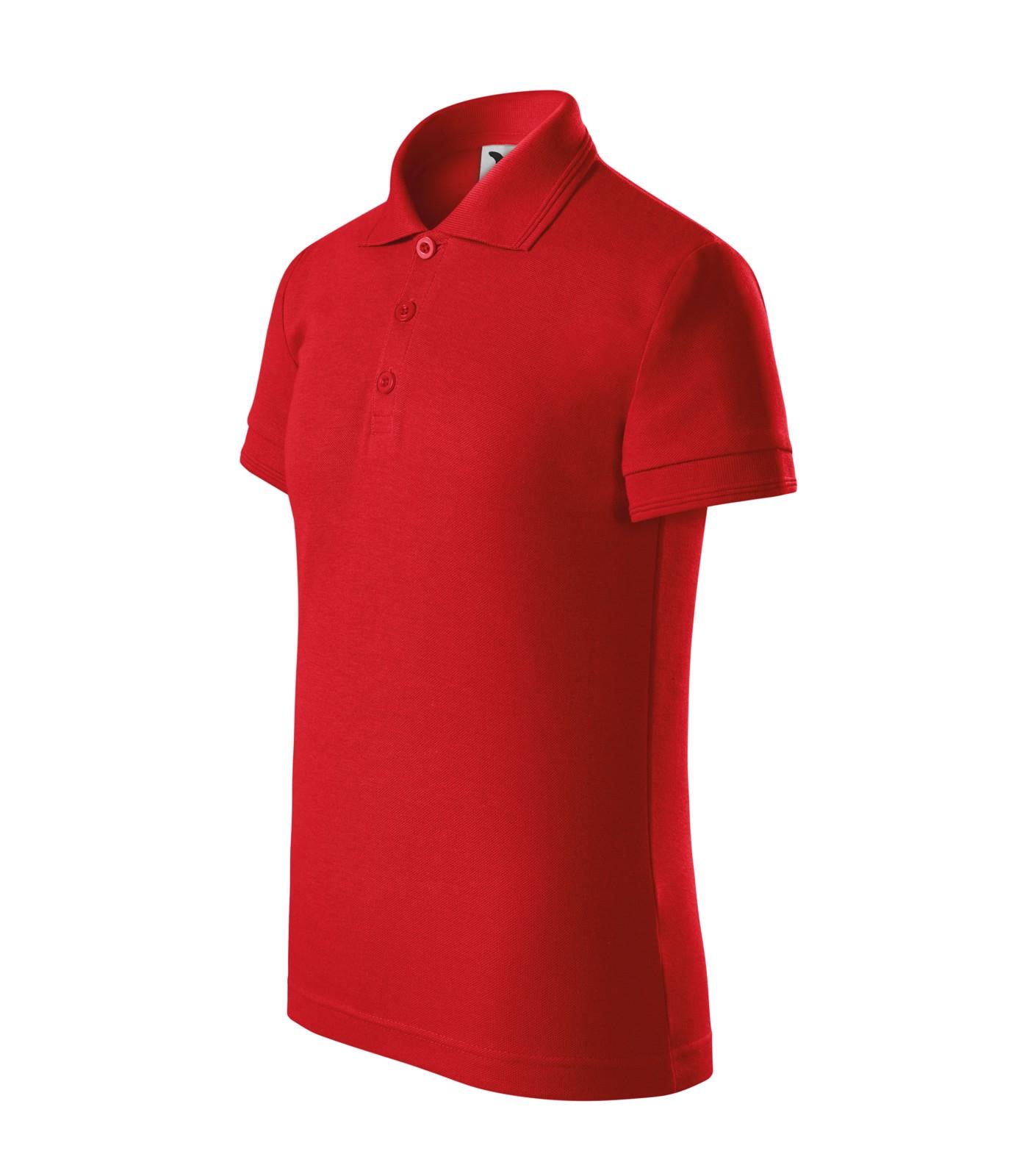 Polokošile dětská Malfini Pique Polo - Červená / 110 cm/4 roky