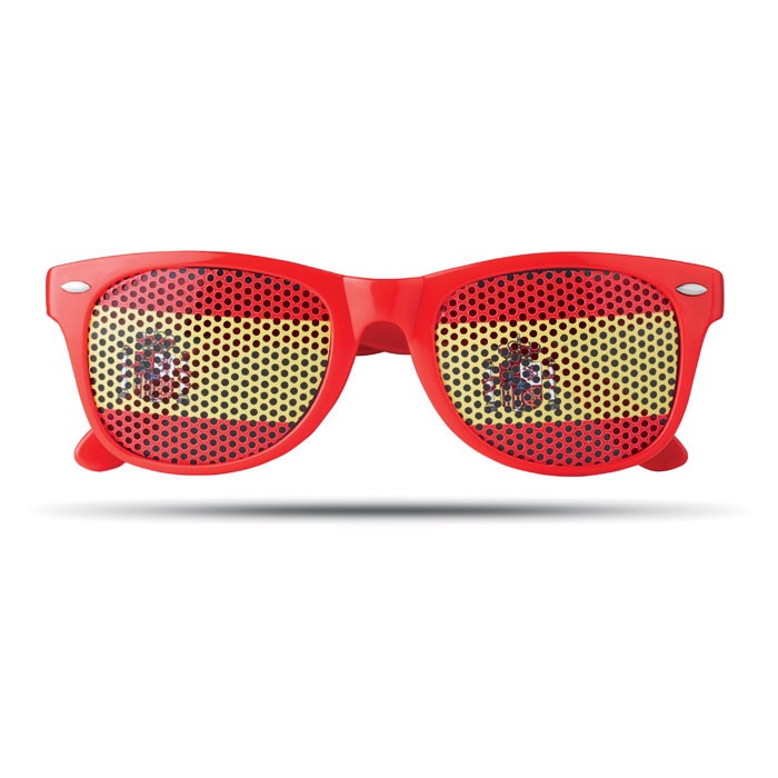 Sunglasses country Flag Fun - Red