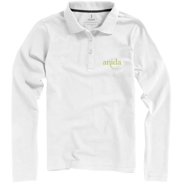 Oakville long sleeve women's polo - White / XS