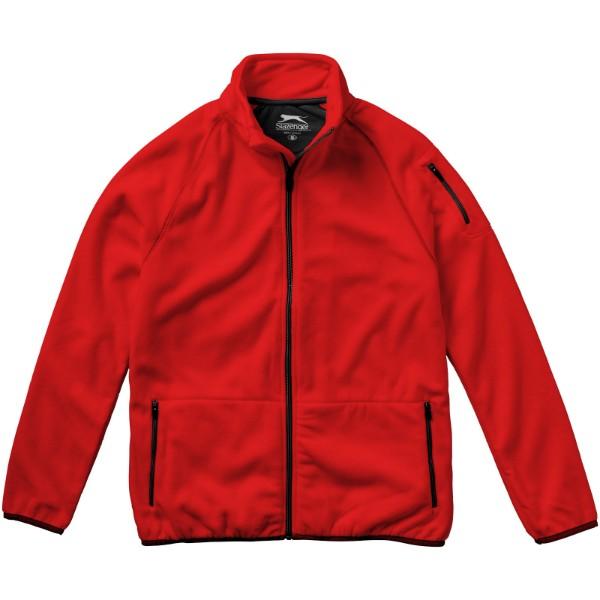 Bunda Drop shot z materiálu mikro fleece - Červená s efektem námrazy / XL