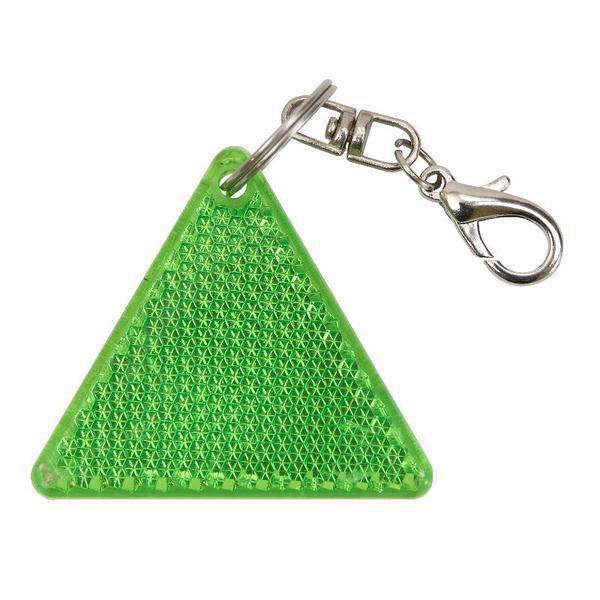 Brelok odblaskowy Safe - Zielony / Biały