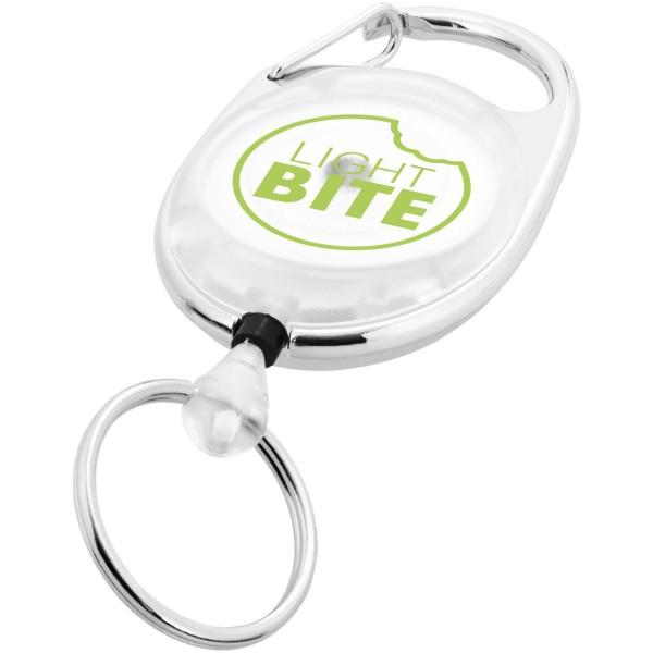 Gerlos roller clip keychain - White
