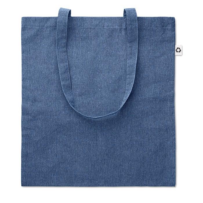 Torba na zakupy dwukolorowa Cottonel Duo - niebieski