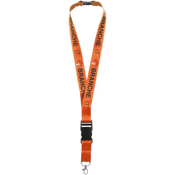 Smycz na identyfikator lub klucze Yogi, bezpieczne zamknięci - Pomarańczowy