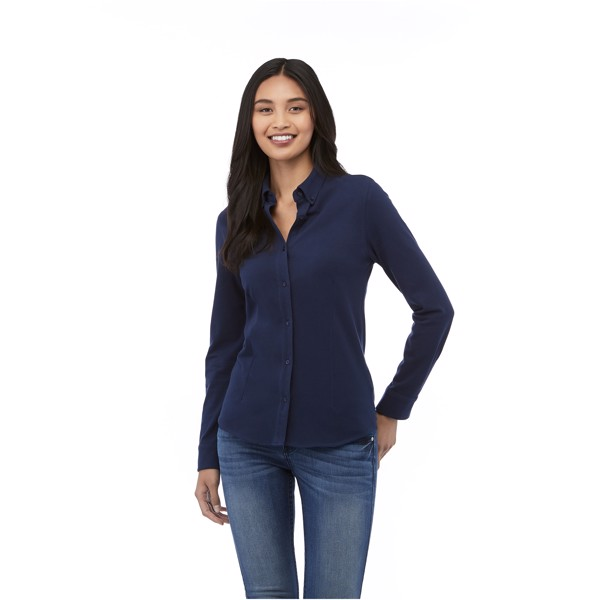 Dámská košile Bigelow s dlouhým rukávem - Černá / S