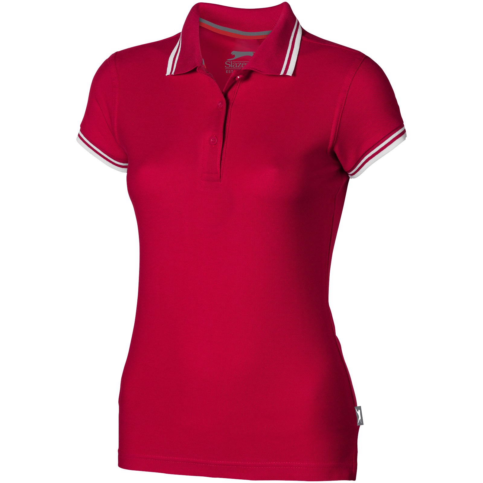 Dámská polokošile Deuce s lemem - Červená s efektem námrazy / XL
