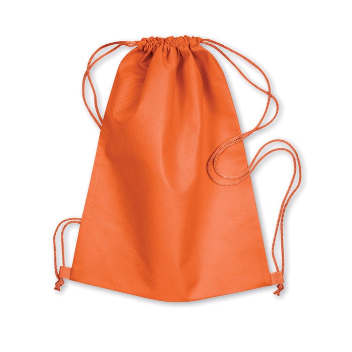 80gr/m² nonwoven drawstring Daffy - Orange