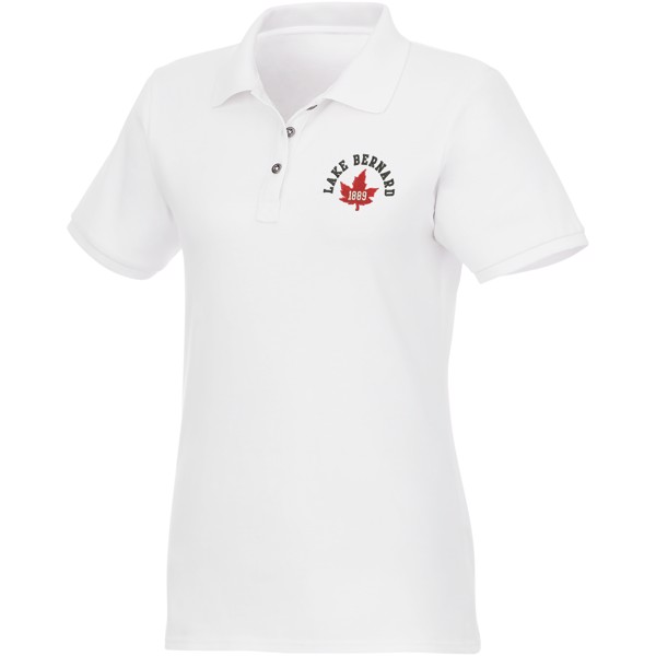 Beryl short sleeve women's GOTS organic GRS recycled polo - White / XL
