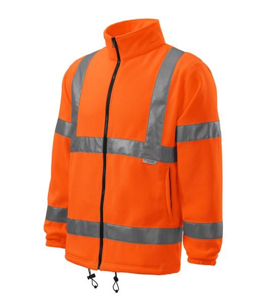 Fleece unisex Rimeck HV Fleece Jacket - Fluorescent Orange / 3XL