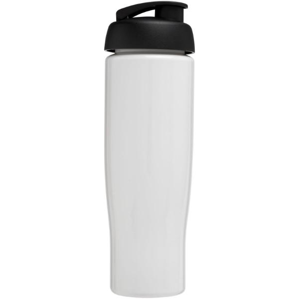 H2O Tempo® 700 ml flip lid sport bottle - White / Solid black