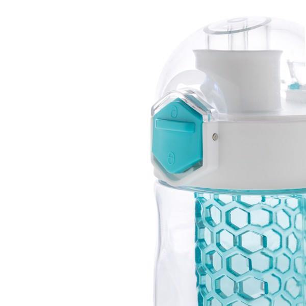 Honeycomb szivárgásmentes palack gyümölcstartóval - Türkiz
