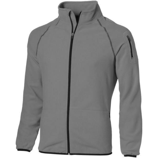 Drop shot full zip micro fleece jacket - Grey / S