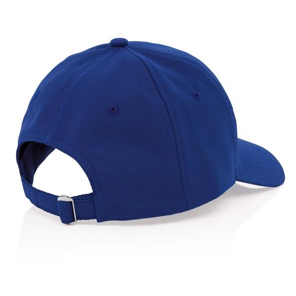 6 dílná kšiltovka Impact z 280g recyklované bavlny AWARE™ - Modrá
