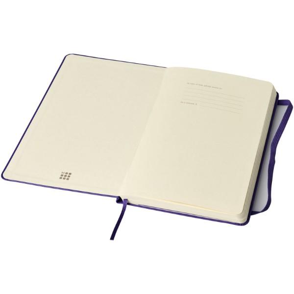 Classic L hard cover notebook - ruled - Medium purple