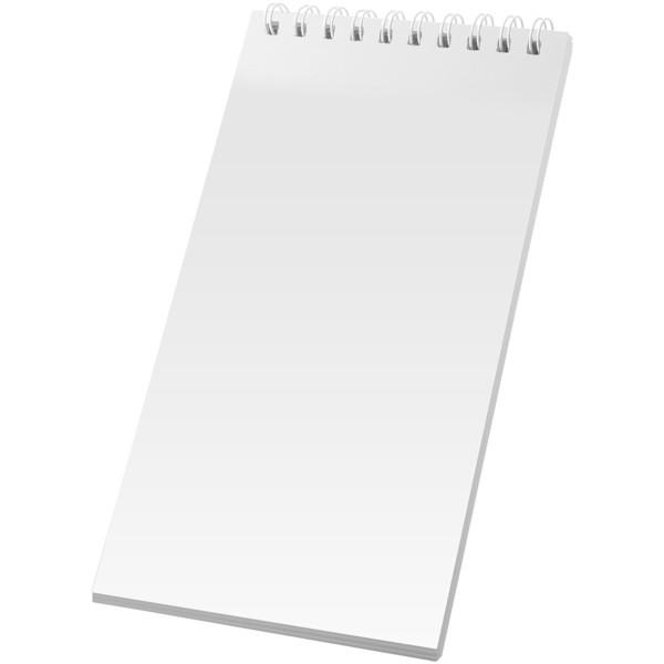 Poznámkový blok Desk-Mate® wire-o 1/3 A4 - Bílá / 50 pages