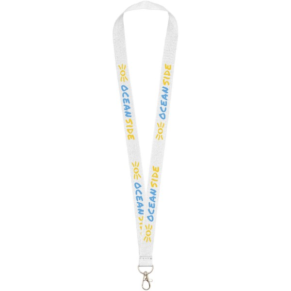 Impey lanyard with convenient hook - White