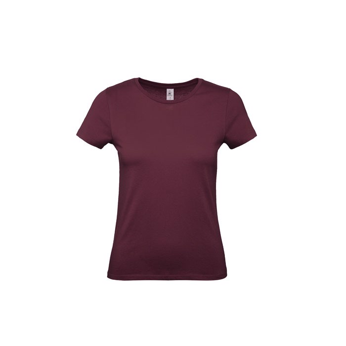 T-shirt female 185 g/m² #E190 /Women T-Shirt - Burgundy / XXL