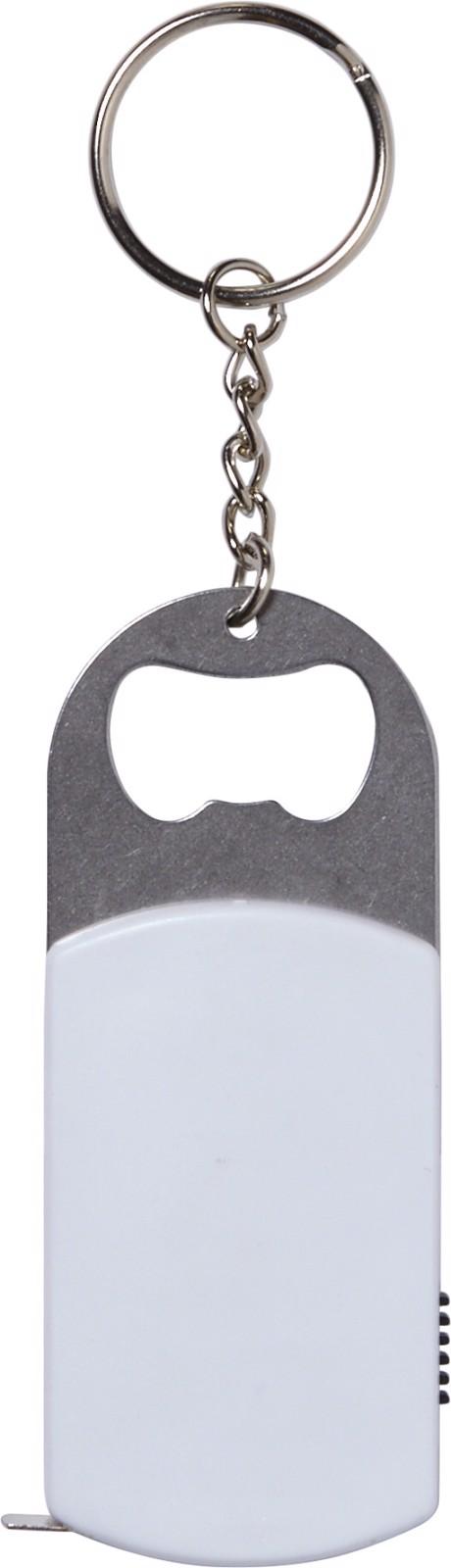 ABS key holder with bottle opener - White