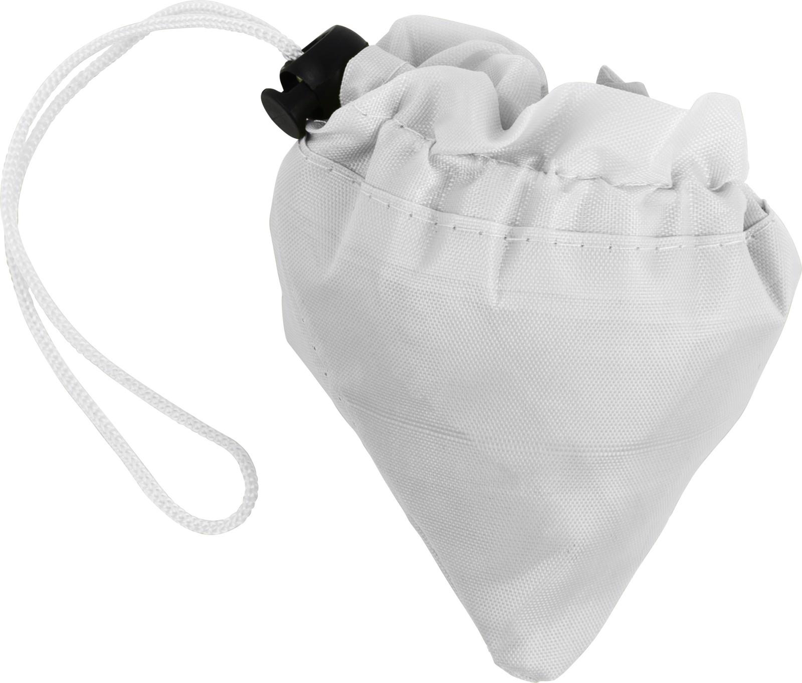 Polyester (210D) shopping bag - White